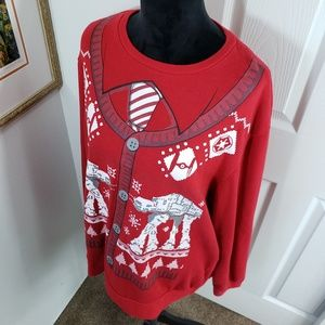 Mens Star Wars Christmas Party Sweater sz 2X